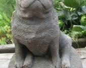 Concrete PUG Dog Statue or Memorial