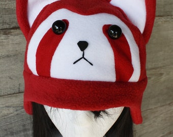 Pabu Fire Ferret Hat - Fleece Hat Adult, Teen, Kid - A winter, nerdy, geekery gift!