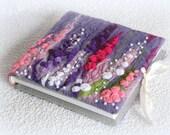 Small flower book, journal, notebook , Textile art