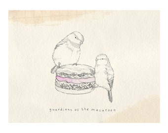 Macaroon Bird Print
