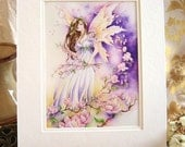 "Fairy Art 11x14 MATTED Print ""Southern Breeze"" Fantasy Art"