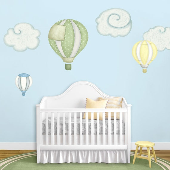 Hot Air Balloon & Cloud Wall Stickers for Baby Nursery