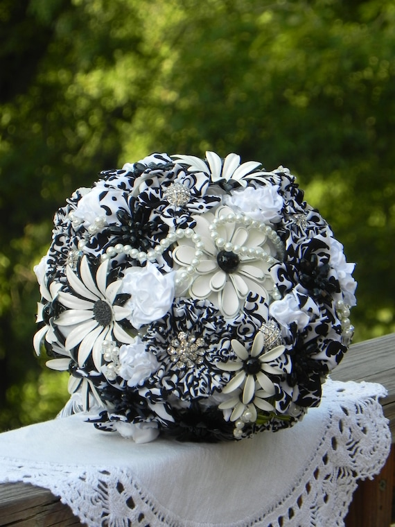 Brooch Wedding Bouquet of Vintage Blooms