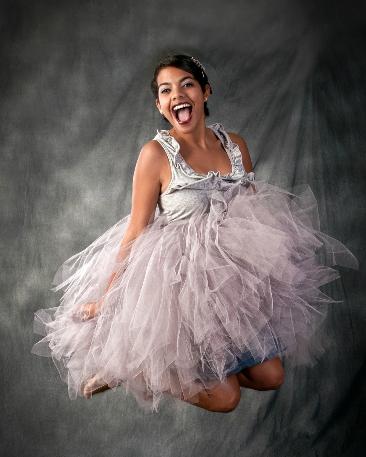 Tutus Tutu: Adult Tutu Skirt Grey Tutu Skirt Adult Formal Tutu. Custom