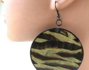 Well Rounded Zebra Earrings