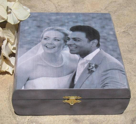 Personalized Wedding Keepsake Box, Custom Wedding Gift, Engagement Gift, Photo Memory Box, Parent Thank You Gift