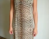 Sheer Leopard Print Silk  Chiffon Dress