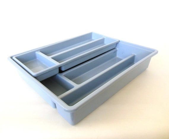 Plastic silverware tray flatware organizer 2 by for Cutlery storage with lid
