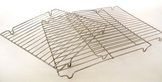3 Cookie Cooling Racks Square Wire Photo Prop