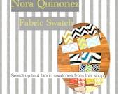 Fabric Swatches- Fabric Samples - Nora Quinonez Decorative Pillows