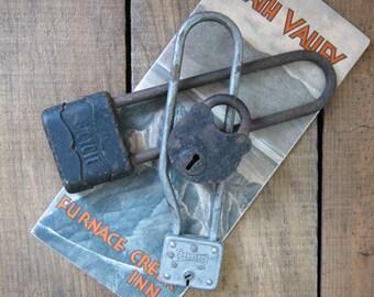 Three Vintage Padlocks
