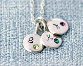 Initial Necklace - Birthstone Necklace - Personalized Necklace - Custom Mommy Necklace - Charm Necklace - Mothers Day Present