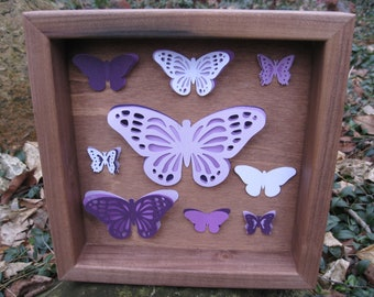 SALE: Paper Butterfly Shadow Box Collection. 10 inch. Custom Orders Welcome.