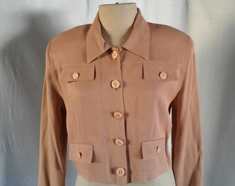 Retro Cropped Vintage Blazer