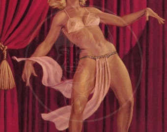Lure of Burlesque - 10x16 Giclée Canvas Print of a Vintage Pulp Paperback Cover