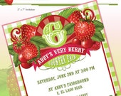 Strawberry Birthday Party Invitation - DIY Printable - Do-It-Yourself - Very Berry Birthday Party