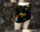 Unoa Black Unicorn Mini Skirt For Slim MSD BJD - Last One