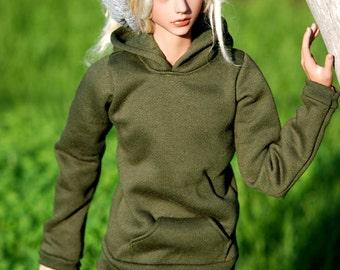 Super Gem Olive Hoodie For SD17 70cm BJD Boys