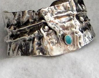 Sterling Silver Cuff Bracelet Bangle Women Wide