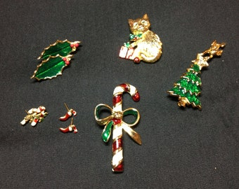 Vintage Christmas Jewelry Collection