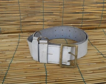 "Vintage 1940's Military White Parade Belt Fits from 34"" to 44"" waist"