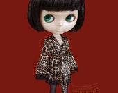 Robe + nightie set for: Pullip & Blythe dolls