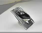 silver ring unique jewelry contemporary designer artistic Christmas