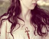 egyptian ankh hair stick key of life- goddess wood hair pin ancient egypy hair pin