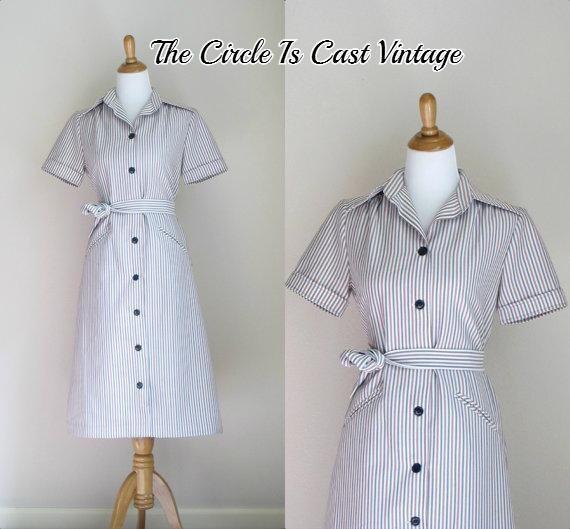 1970s patriotic dress / vintage I. Magnin dress