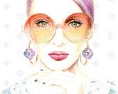 Fashion illustration - Louis Vuitton Sunglasses