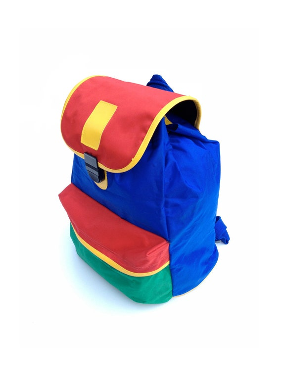 Wildly Vibrant 80s Colorblock Backpack