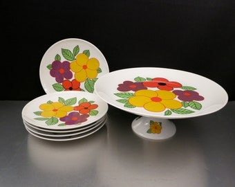 Porcelain Cake Plate & Serving Plates by Schumann Arzberg Germany