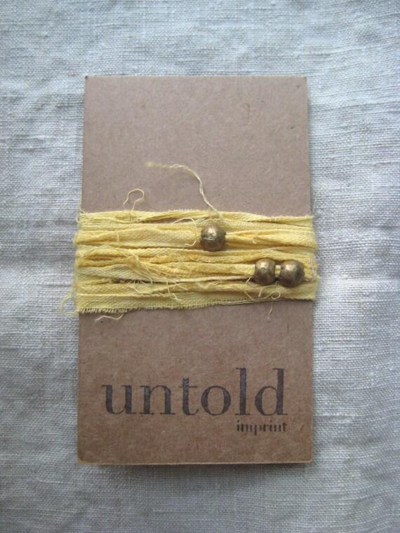 SALE / Golden Cotton Wrist Wrap