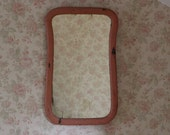 Antique Curved Wood Mirror