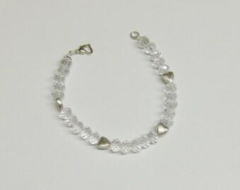 Crystal Glass Bead & Tibetan Silver Bracelet  //  Jewelry Under 20.00