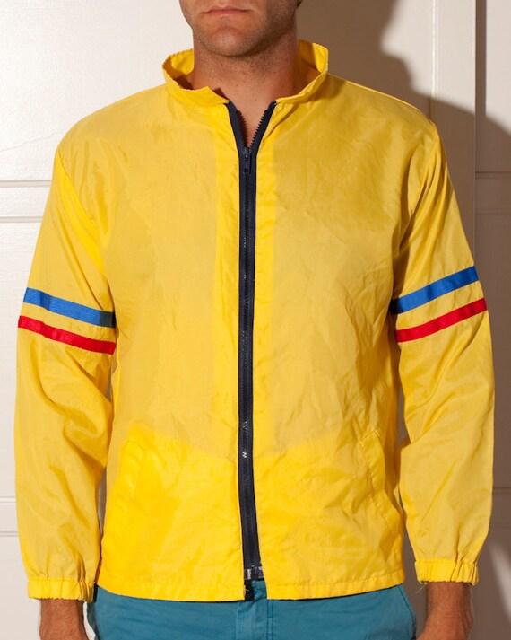 Vintage Zip Up Windbreaker - Yellow