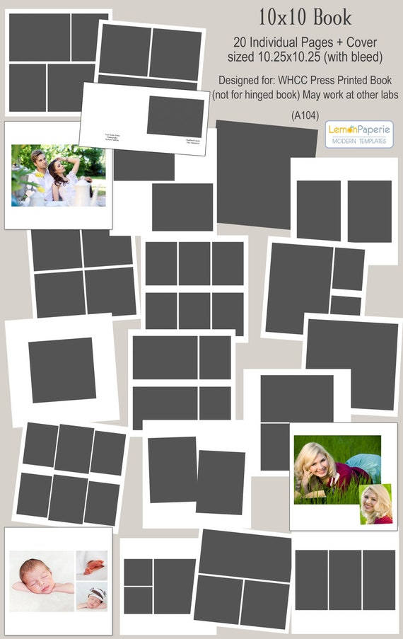Free 5x5 Trifold Template From Whcc  Free Holiday Templates