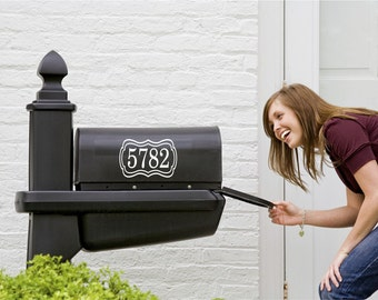 Mailbox Numbers Decal - Small Decal - Mailbox numbers with Frame - Vinyl Wall Art