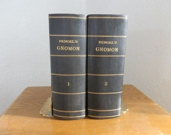 Collectible Antique Book Set John Albert Bengel's Gnomon of the New Testament c1860 Pointing out from the Natural Force of the Words