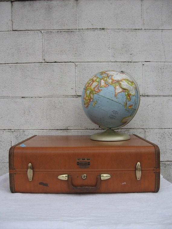 Samsonite Large Suitcase - MidCentury  Luggage - Retro Wedding Photography Prop