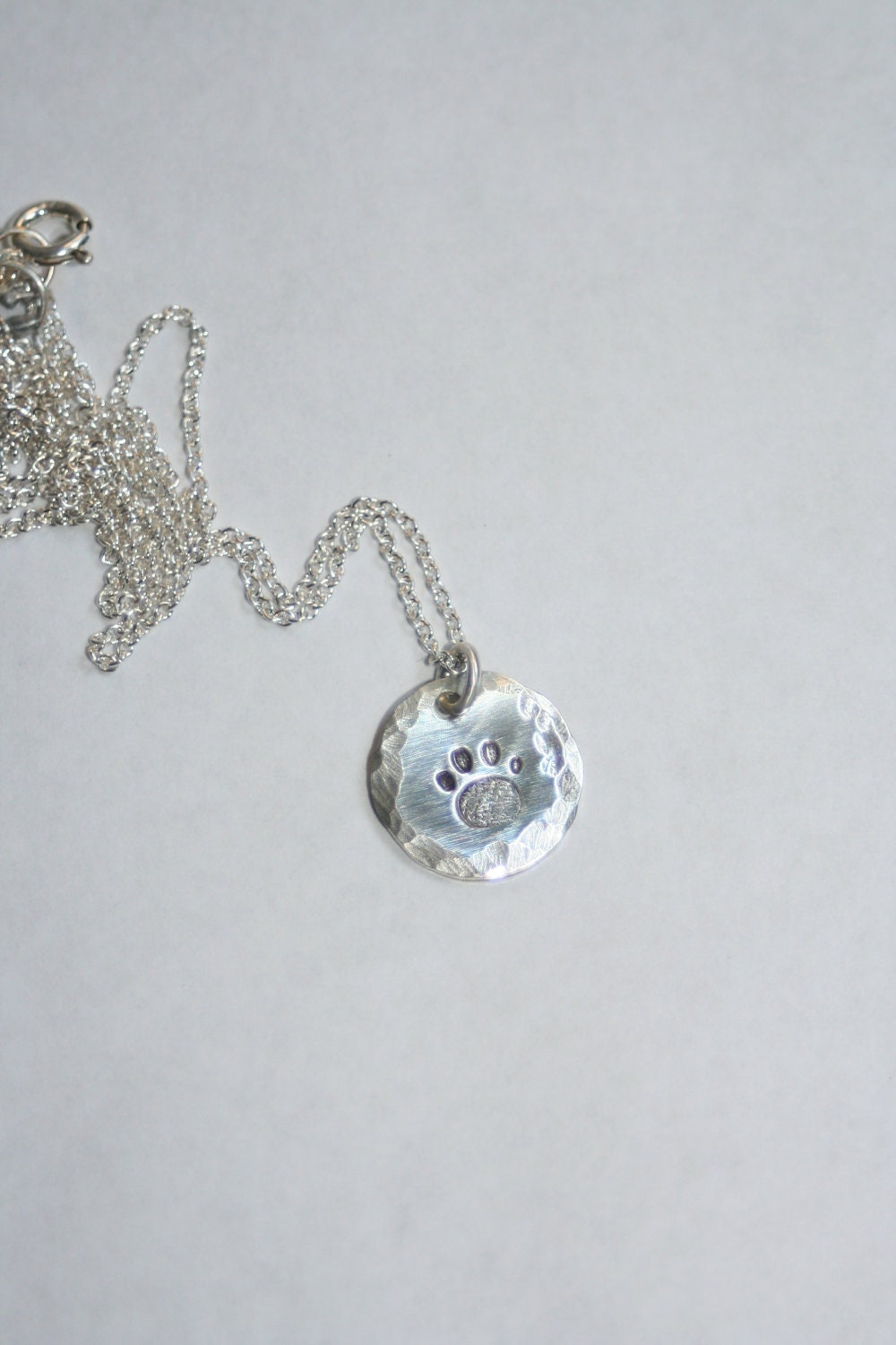 Silver Paw Cavachons: Sterling Silver Dog Paw Print Necklace/Pendant/Gift With