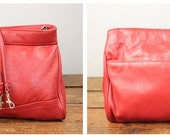 Cherry Red Brenalini Crossbody Bag with Long Strap