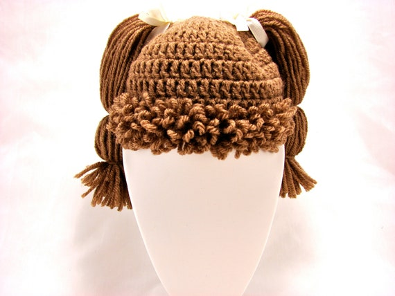 Cabbage Patch Kid Style Crochet Wig/Hat, Custom made for all sizes