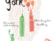 New York A4 Art Print
