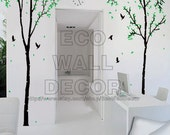 PEEL and STICK Removable Vinyl Wall Sticker Mural Decal Art - Giant Trees and Birds( 3 sheets)