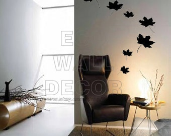 PEEL and STICK Removable Vinyl Wall Sticker Mural Decal Art - Romantic Falling Leaves
