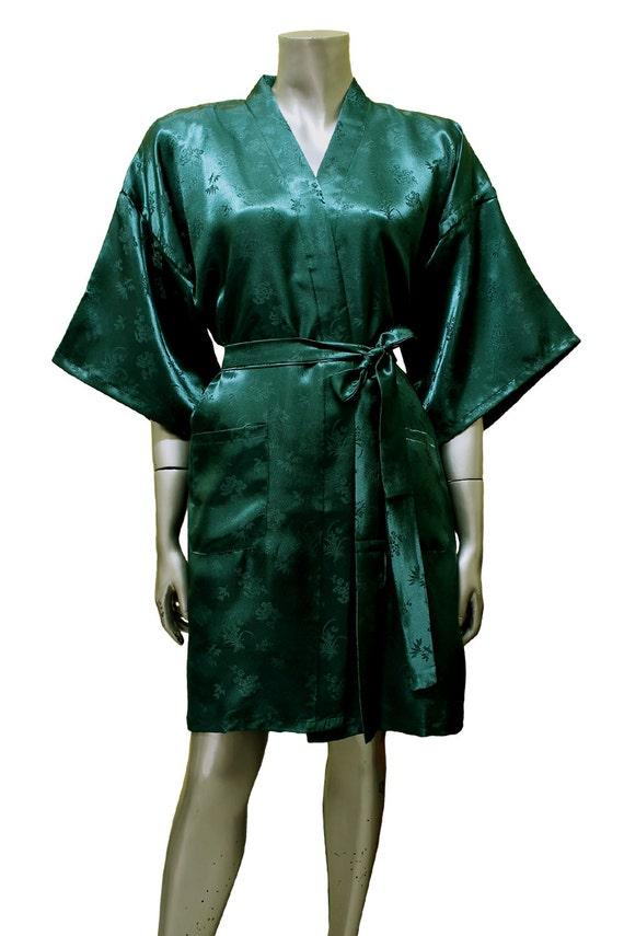Items similar to Bridesmaid Silk Robes Sea green Gown Robe ...