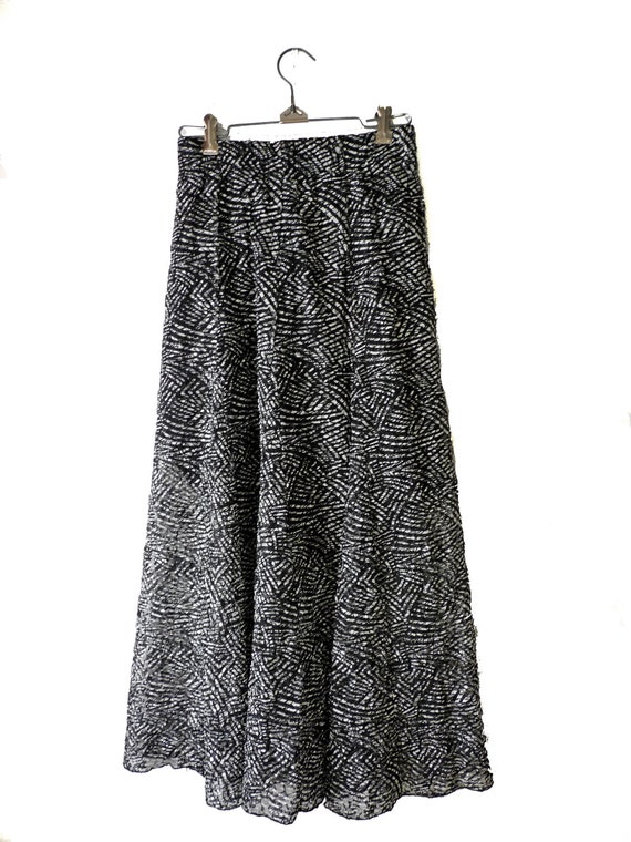 grunge maxi skirt sheer overlay chicos xs by jeezumcrowvintage