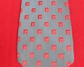 CHRISTIAN DIOR Silk Necktie Blue and Red Geometric Print VINTAGE