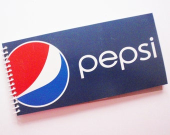 PEPSI Notebook soda pop spiral bound Recycled Notepad